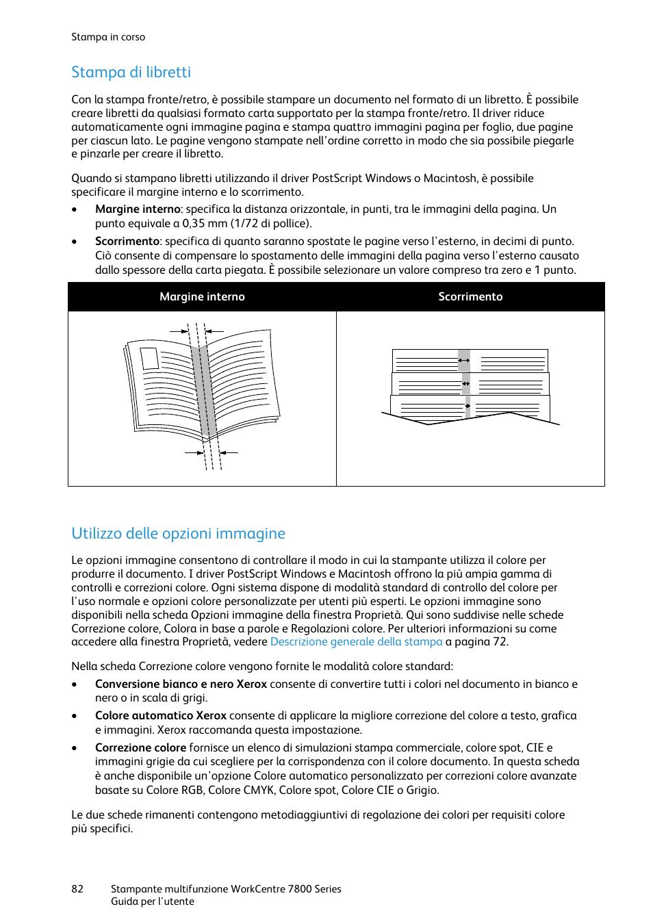 Stampa di libretti, Utilizzo delle opzioni immagine | Xerox